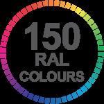 Aluminium Sliding doors 150 RAL Colours